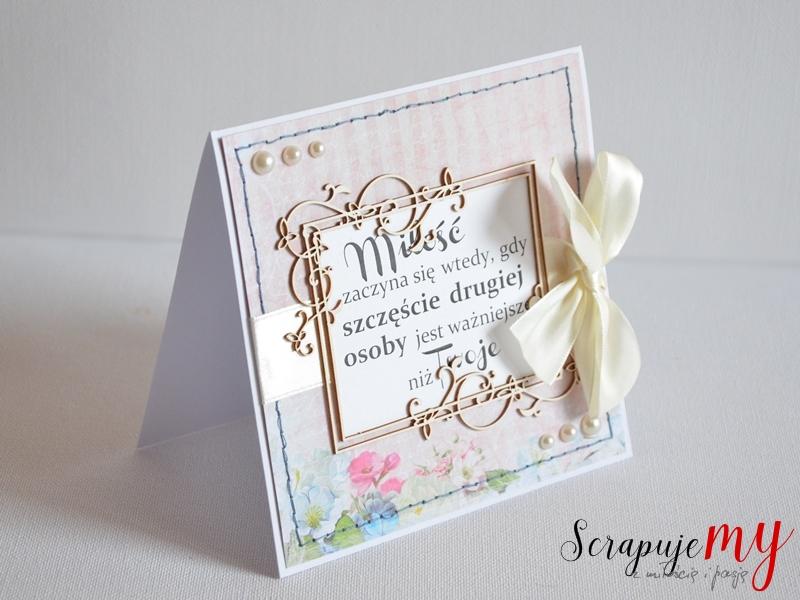 personalizowany ślub, kartka ślubna z cytatem, kartka z cytatem