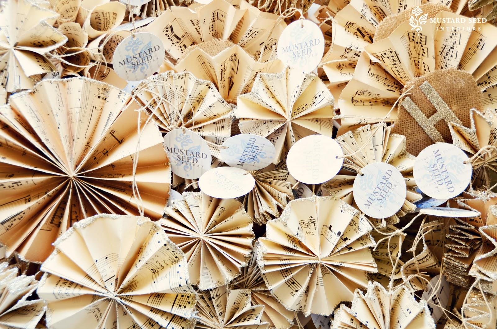Confessions of a DIY-aholic: Antique Music Paper Ornaments
