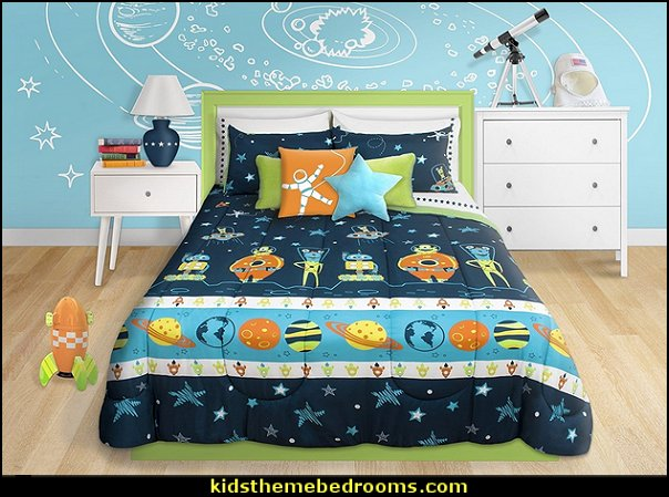 Outer Space Comforter sets  outer space theme bedrooms - aliens planets rocket ships decorplanets decor - solar system decorating - moon stars alien theme bedrooms - star wars theme bedrooms  - robots rockets theme decorating - galaxy bedding - astronaut wall murals Sci Fi  theme bedrooms - Star Wars bed - space ships theme beds - Star Wars Bedroom - monsters and aliens baby  bedroom - Space Shuttle Bunk Bed With Launch Tower  - Galaxy Room Decor