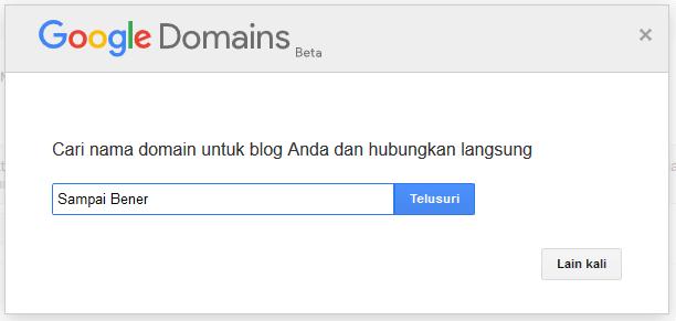 Google domain tidak murah, mahal
