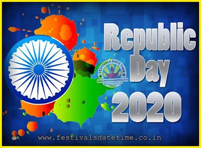 2020 Republic Day of India Date, 2020 Republic Day Calendar
