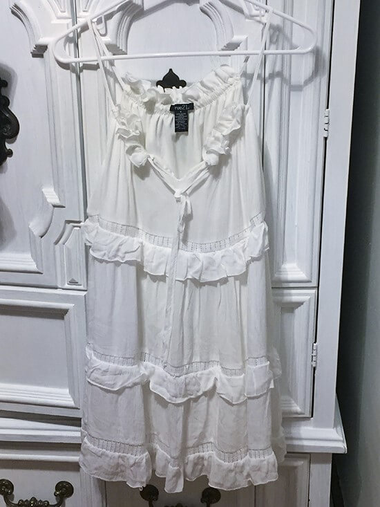 rue21 White ruffle dress