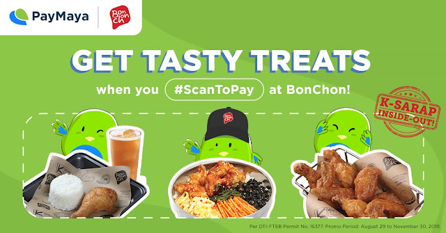 Bonchon Chicken All-You-Can for 1 year when you use Paymaya Scan to Pay
