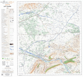 Ait-OURIR Morocco 50000 (50k) Topographic map free download