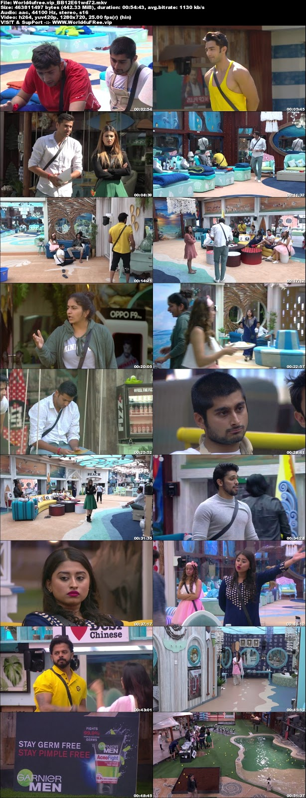 Bigg Boss 12 Episode 61 16 November 2018 720p WEBRip 400Mb x264 world4ufree.vip tv show Bigg Boss 12 Download Episode 61 16 november 2018 world4ufree.vip 400mb 720p HD  free download or watch online at world4ufree.vip
