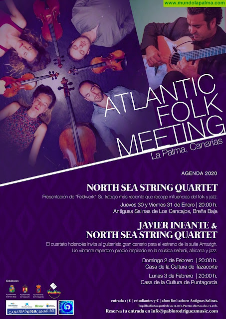 North Sea String Quartet presenta Atlantic Folk Meeting, su primer ciclo de conciertos del año en La Palma