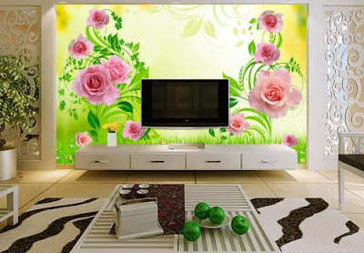 3D wallpaper for living room walls - 3D murals images