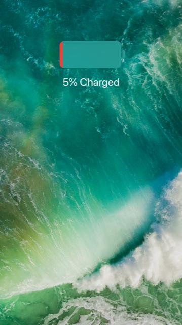 5% battery screen