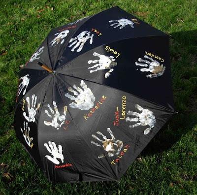 come personalizzare un ombrello con manine