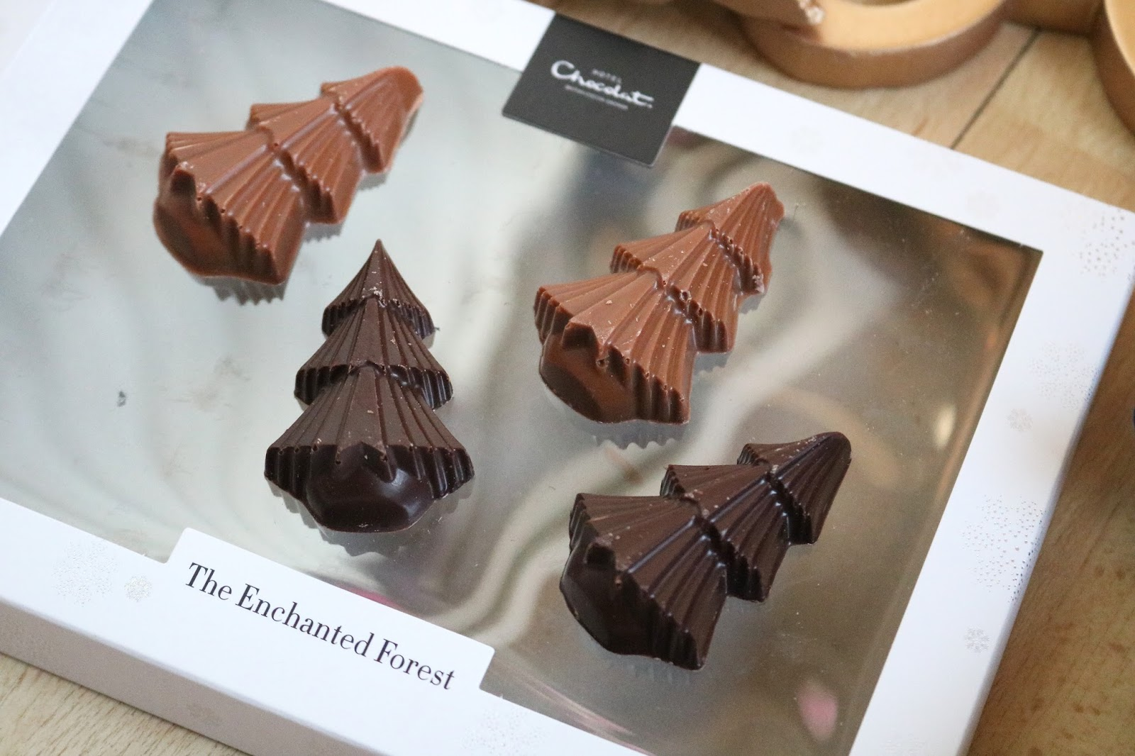 Hotel Chocolat enchanted forest chocolate christmas trees