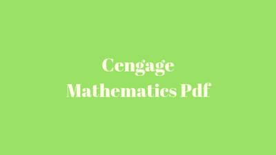 Cengage Mathematics Pdf