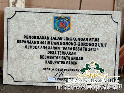 Harga Prasasti Marmer, Papan Nama Kantor Desa