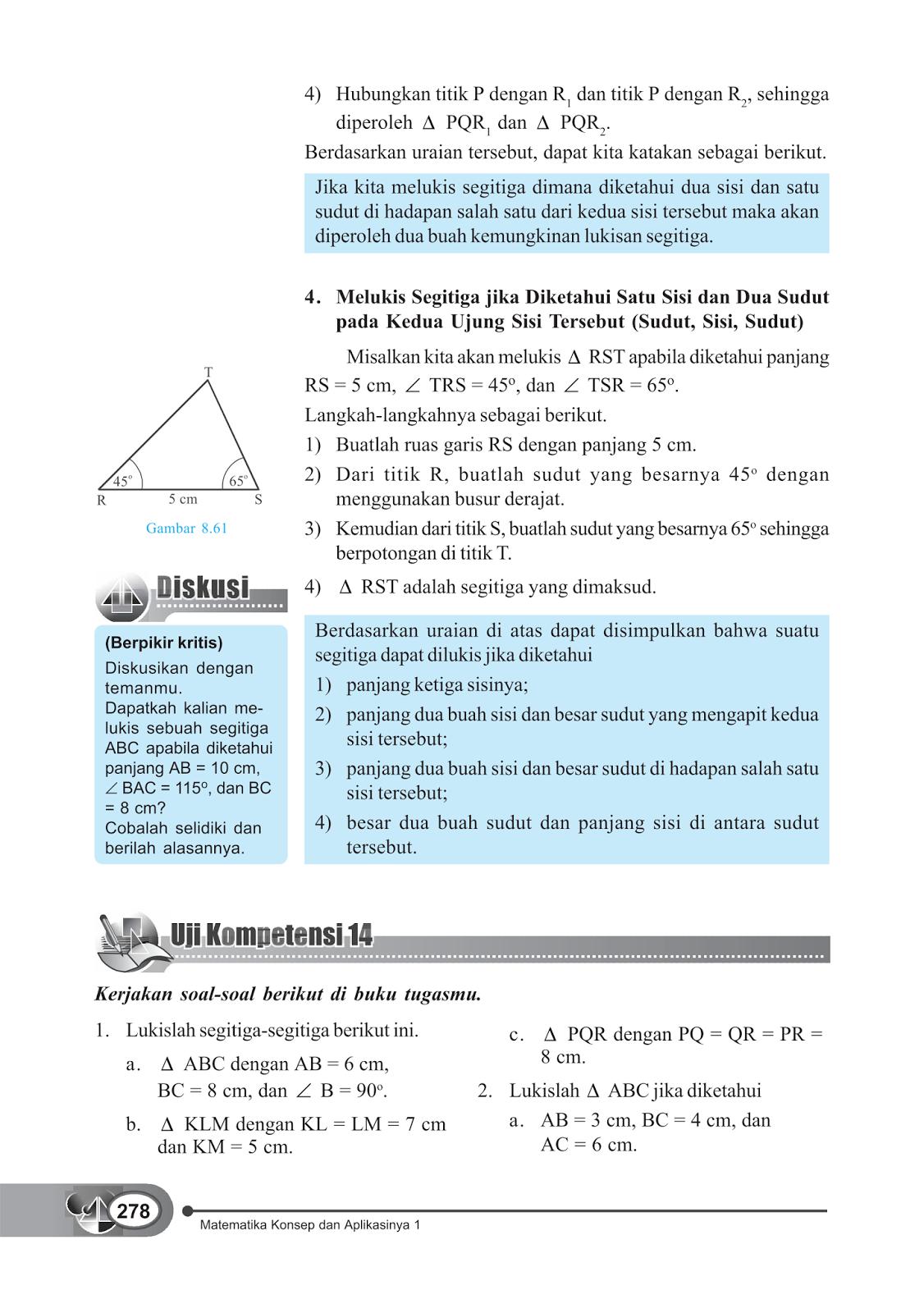 Rpp Matematika Smp Kelas 7 Garis Dan Sudut Materi Segitiga Dan Segiempat Smp Kelas 7 Rpp