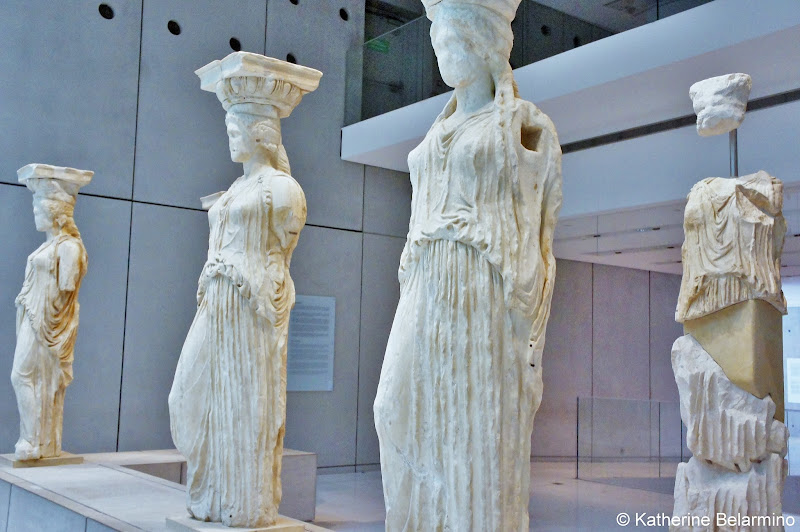 Original Caryatids from Erechtheion's Porch of the Caryatids Acropolis Museum One Day in Athens