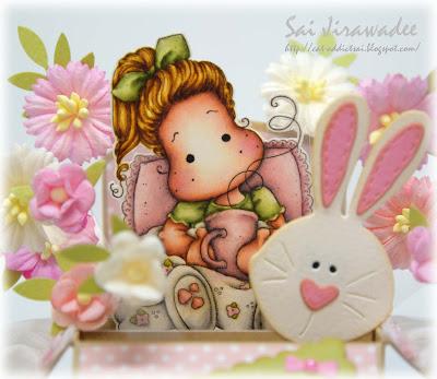 Magnolia Tilda with Bunny Slippers