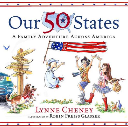 http://www.amazon.com/Our-50-States-Lynne-Cheney/dp/0689867174/ref=sr_1_1?s=books&ie=UTF8&qid=1457236200&sr=1-1&keywords=our+50+states+lynne+cheney