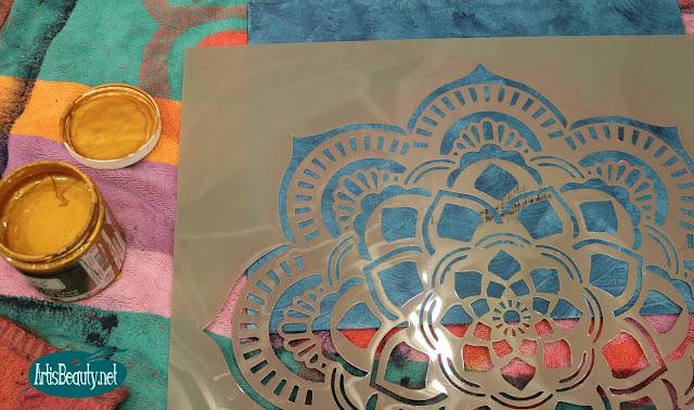deco art easy diy stenciled chic boho style mandala canvas artwork