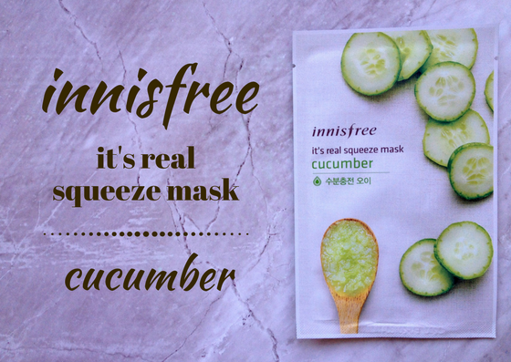 ZAMASKOWANA ŚRODA Z SINGASHOP.PL | INNISFREE IT'S REAL SQUEEZE MASK CUCUMBER