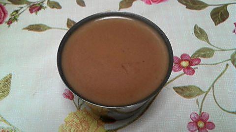 Postre de chocolate en molde