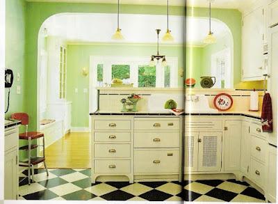 Interior Kitchen Set Unik Untuk Dapur Bergaya Retro