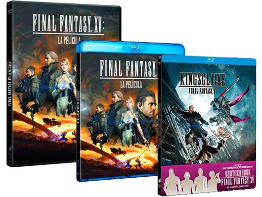 Ya a la venta ' Final Fantasy XV: La película' en DVD, Blu-ray y edición metálica