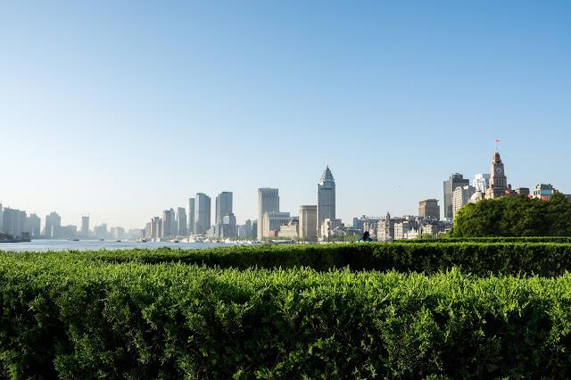 Shanghai, Šanghaj, Bund, Waitan, východ slunce, sunrise, čína, china