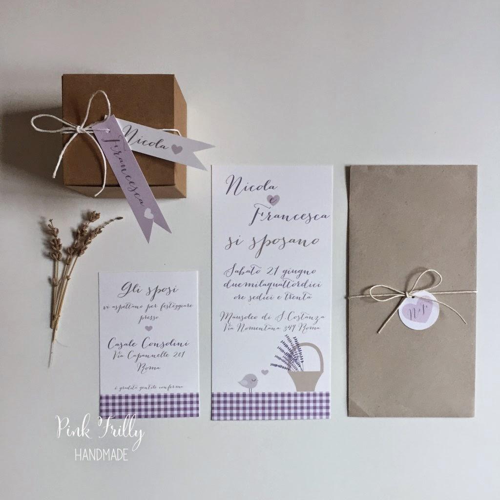 Partecipazioni Matrimonio Lavanda.Pink Frilly Partecipazioni Lavanda E Selfpackaging