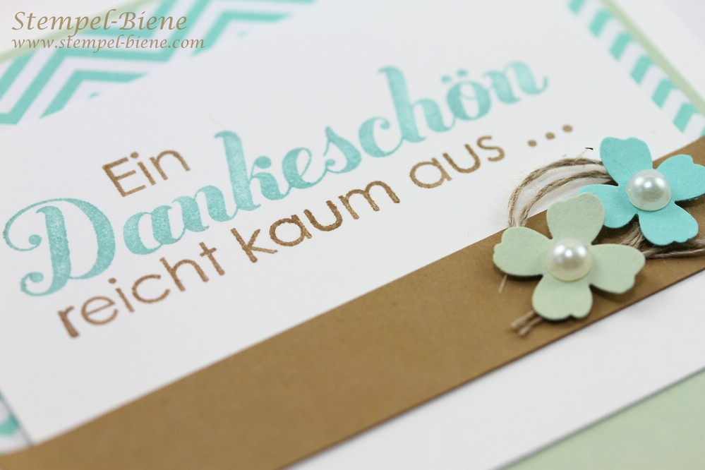 Dankeskarte mit Stampin' Up Tausend Dank, Match the Sketch, Stampin' Up Winterkatalog 2014, Stampin Up Bestellen