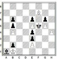 Estudio artístico de ajedrez de José Mugnos (Buenos Aires,1957)