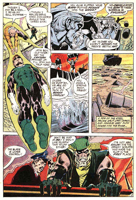 Green Lantern Green Arrow #80 dc comic book page art by Neal Adams