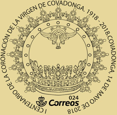 Matasellos del Centenario de la Coronación de la Virgen de Covadonga