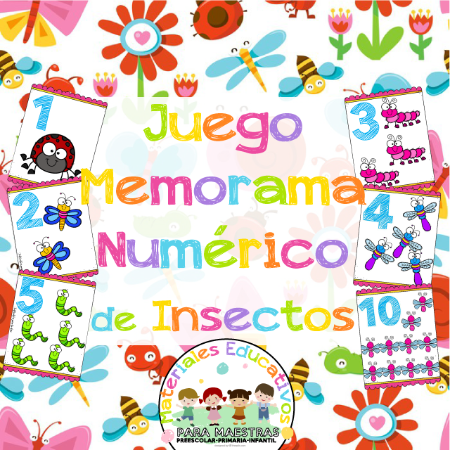 Juego De Memorama Numerico De Insectos Materiales Educativos Para