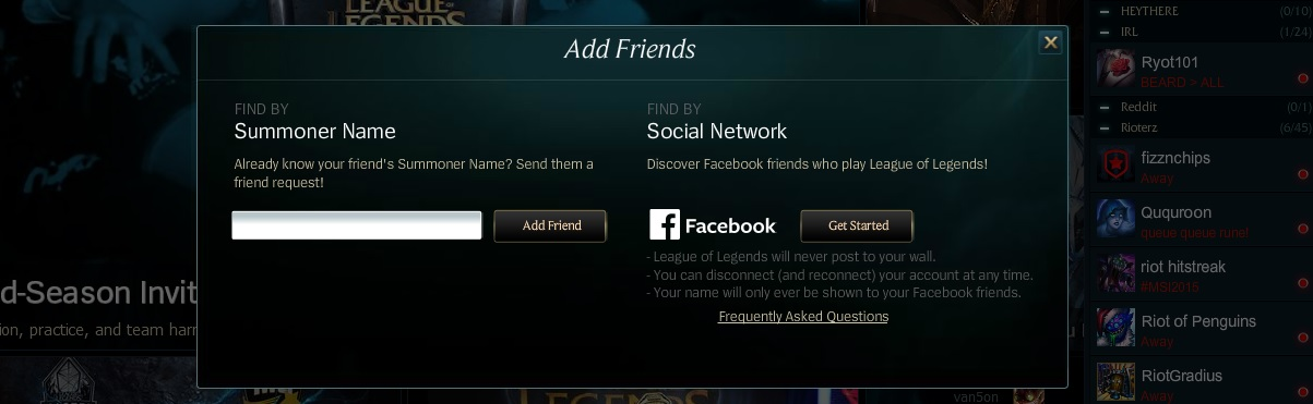 Ult friend finder