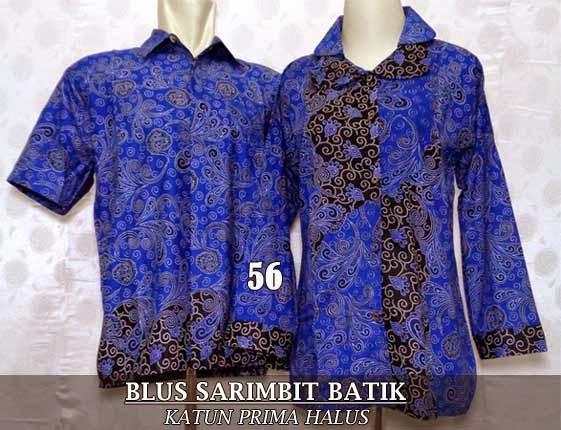 Blus batik couple sarimbit 2015 murah dan modern