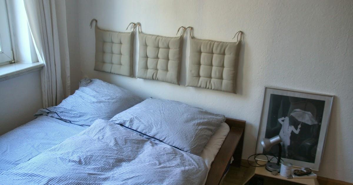 vida nullvier kuscheloase ohne kitsch kopfteil f rs bett aus kissen. Black Bedroom Furniture Sets. Home Design Ideas