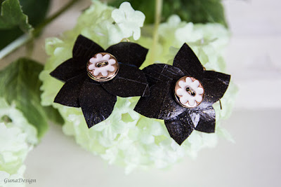 gunadesign guna andersone rubber flower earrings