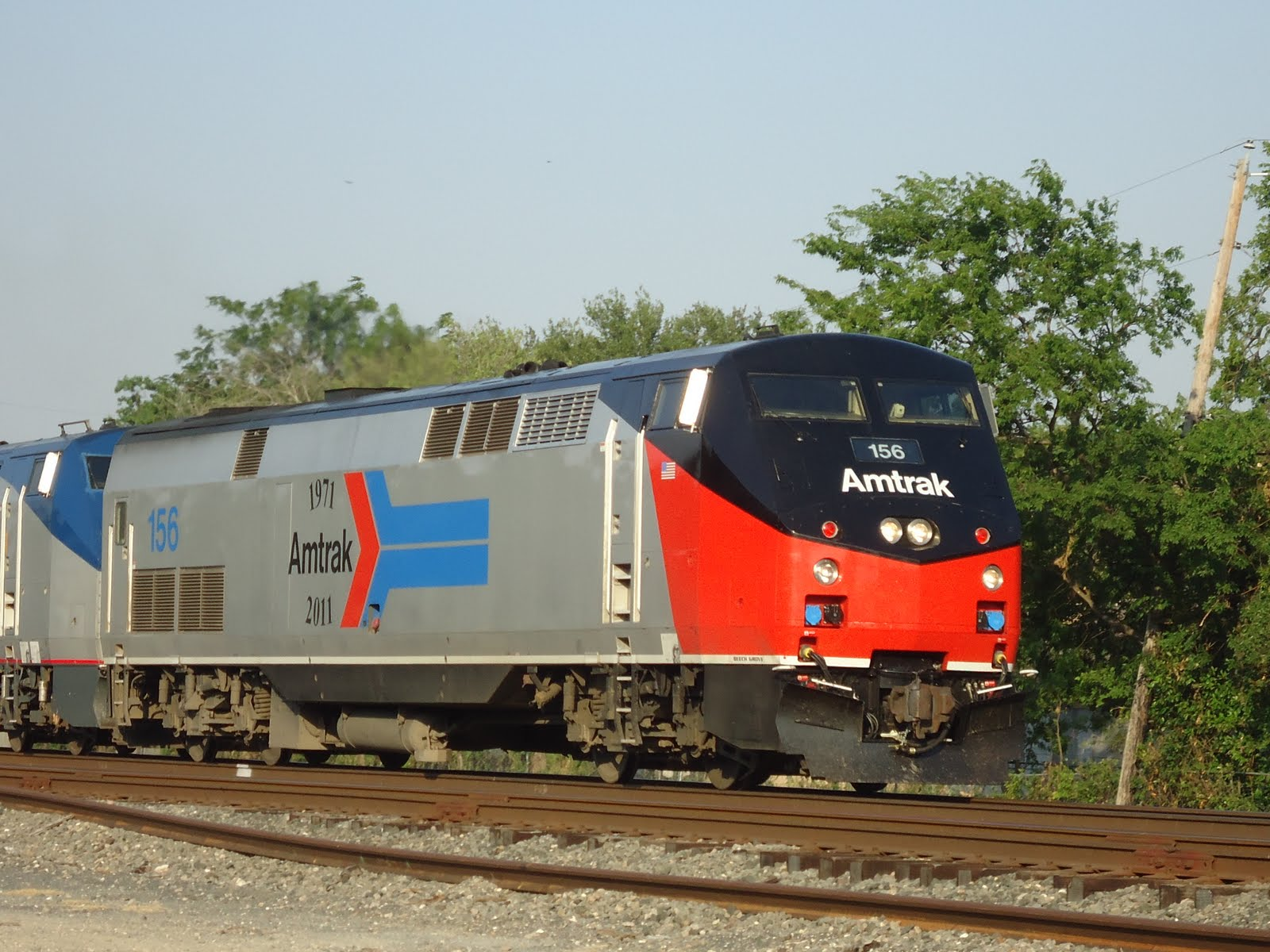 Texas Railroading Amtrak 156 In Central Texas