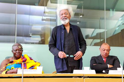 Professor Wole Soyinka speaking