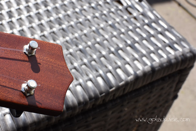 Hamano ukulele polished headstock