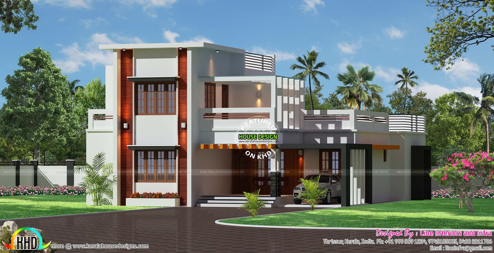 House sq ft details ground floor sq ft sq feet flat roof for Window design ground floor