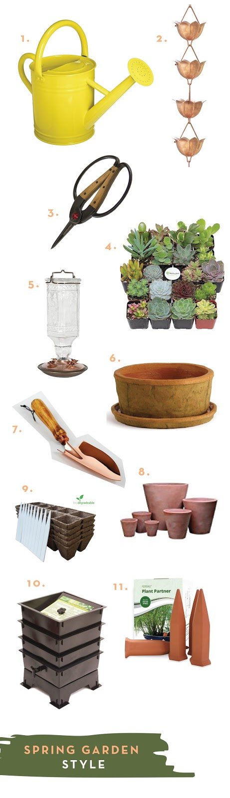 Collection of garden tools you'll need to start a spring garden