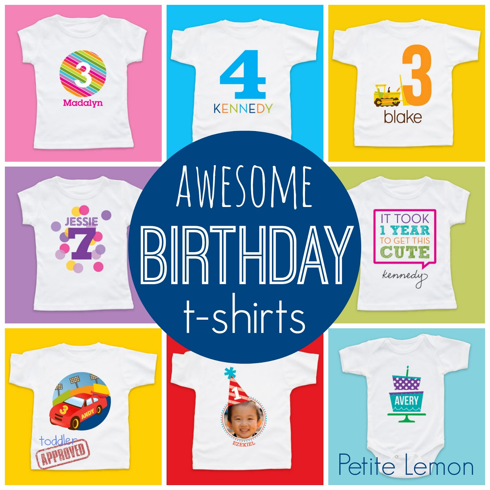 Personalized Birthday T Shirts From Petite Lemon