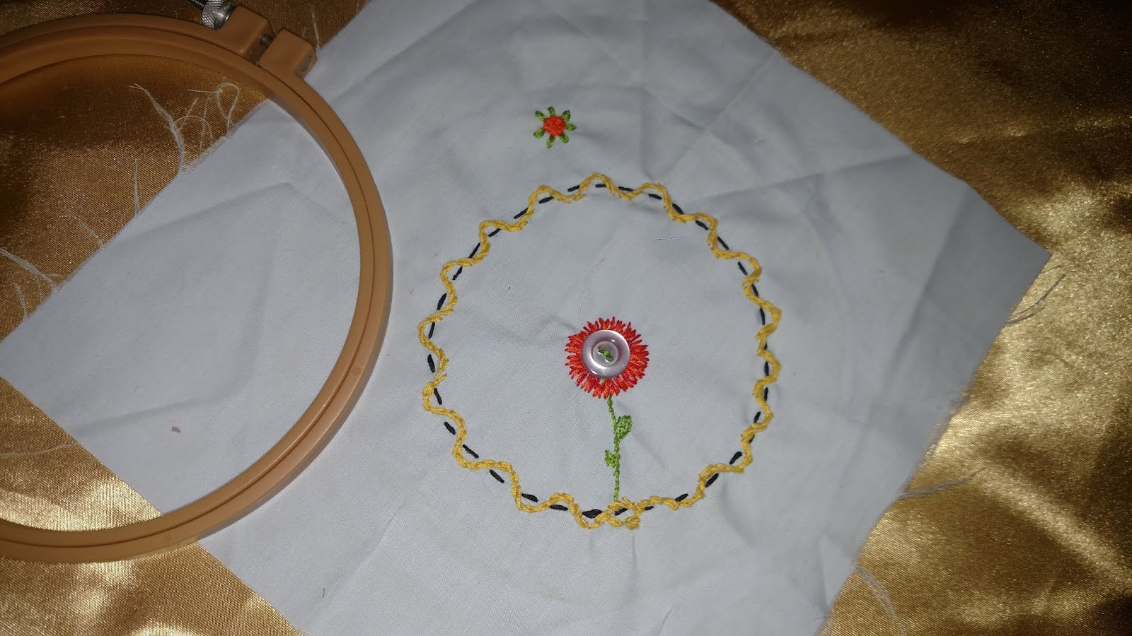 Stitching It Right How To Make A Freehand Embroidery Flower