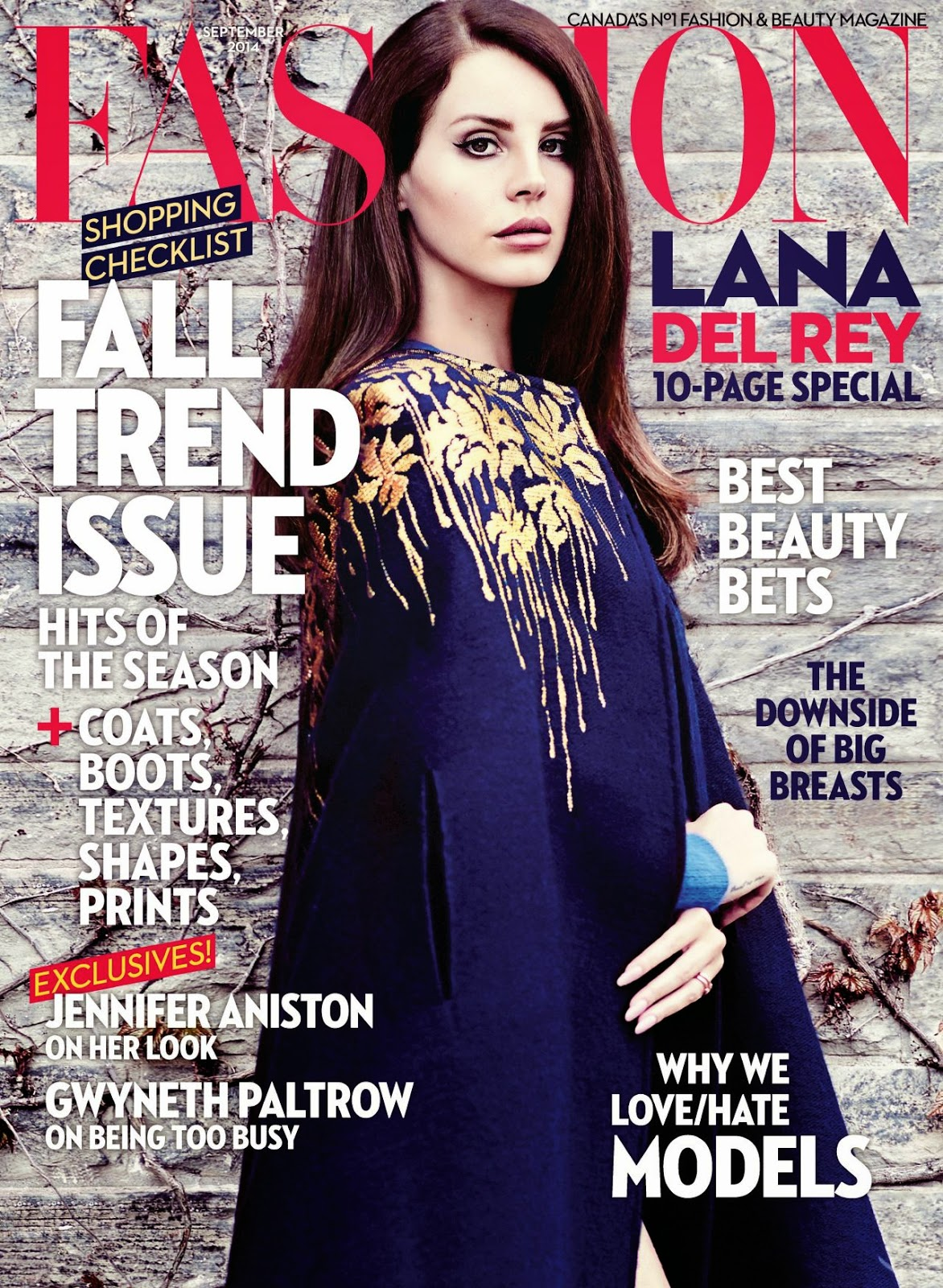 Lana Del Rey covers Fashion Magazine Canada September 2014
