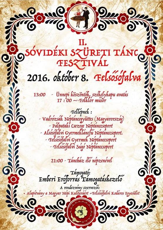 II. Sóvidéki Szüreti Tánc Fesztivál