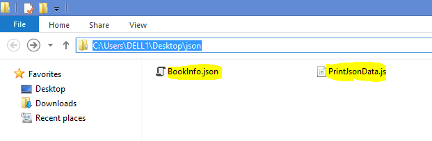 Node js - Reading data from JSON file or JSON object