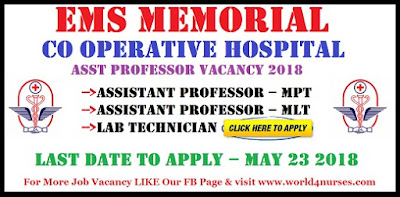 EMS Memorial Co Operative Hospital Asst Professor Vacancy 2018