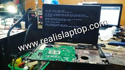 service laptop asus x44h mati total di malang