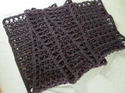 scarf, crochet, love knot, Caron One Pound