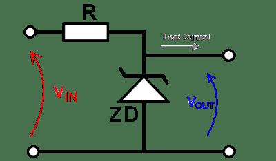 حاسبة دائرة الزينر دايود (في حالة منظم للجهد)